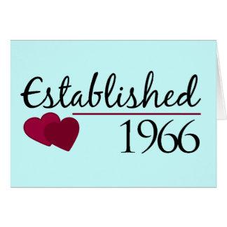 Cartão Estabelecido 1966
