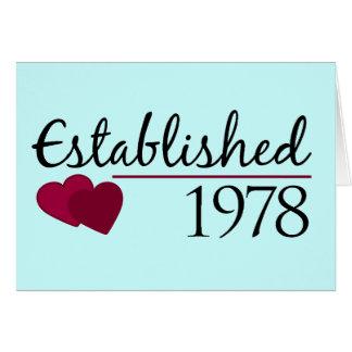 Cartão Estabelecido 1978