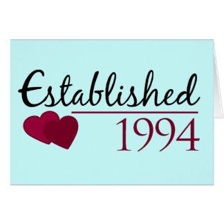 Cartão Estabelecido 1994