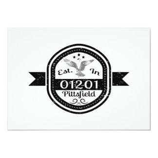 Cartão Estabelecido em 01201 Pittsfield
