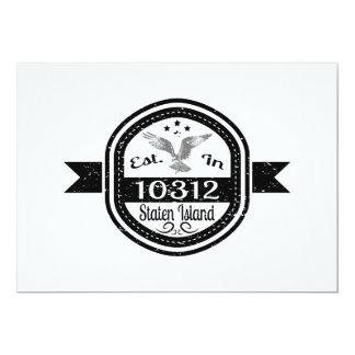 Cartão Estabelecido em 10312 Staten Island