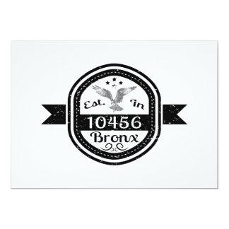 Cartão Estabelecido em 10456 Bronx