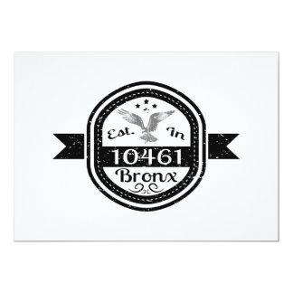 Cartão Estabelecido em 10461 Bronx