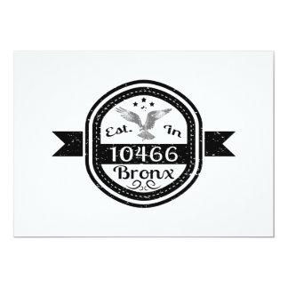 Cartão Estabelecido em 10466 Bronx