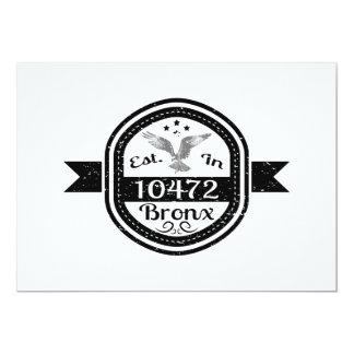 Cartão Estabelecido em 10472 Bronx