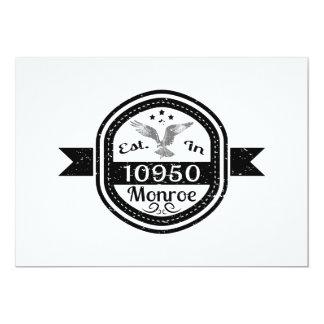 Cartão Estabelecido em 10950 Monroe