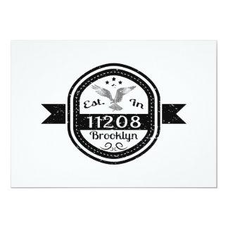 Cartão Estabelecido em 11208 Brooklyn
