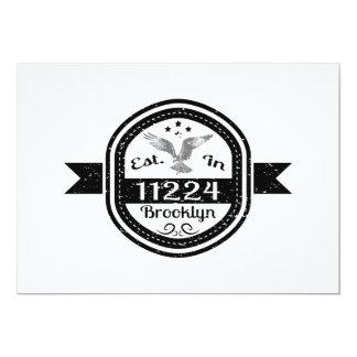 Cartão Estabelecido em 11224 Brooklyn