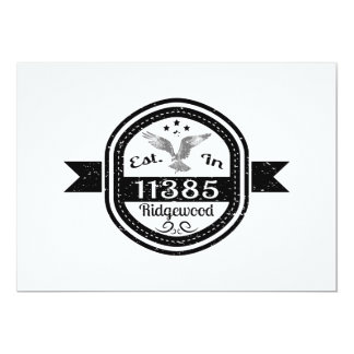 Cartão Estabelecido em 11385 Ridgewood