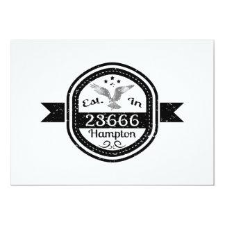 Cartão Estabelecido em 23666 Hampton