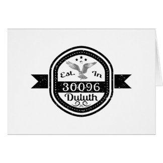 Cartão Estabelecido em 30096 Duluth