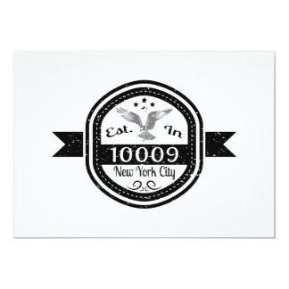 Cartão Estabelecido na Nova Iorque 10009
