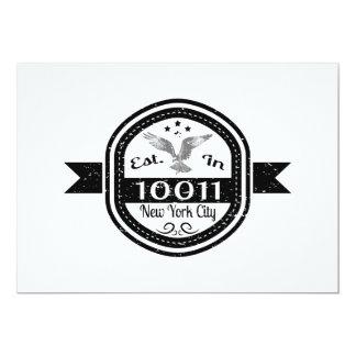 Cartão Estabelecido na Nova Iorque 10011