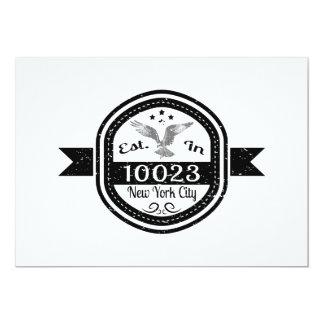 Cartão Estabelecido na Nova Iorque 10023
