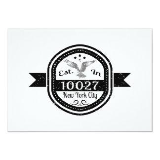 Cartão Estabelecido na Nova Iorque 10027