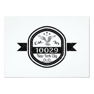Cartão Estabelecido na Nova Iorque 10029