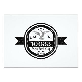 Cartão Estabelecido na Nova Iorque 10033