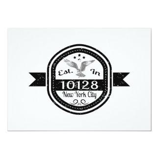 Cartão Estabelecido na Nova Iorque 10128