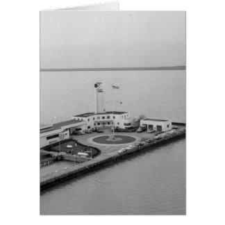 Cartão Estação da guarda costeira na ilha do uísque