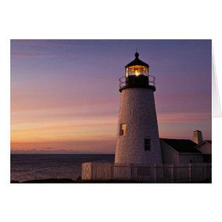 Cartão Estação da luz do ponto de Pemaquid, Maine