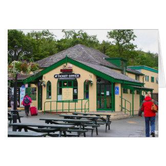 Cartão Estação de comboio da montanha de Snowdon,