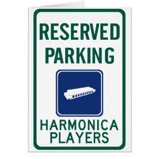 Cartão Estacionamento dos jogadores da harmônica