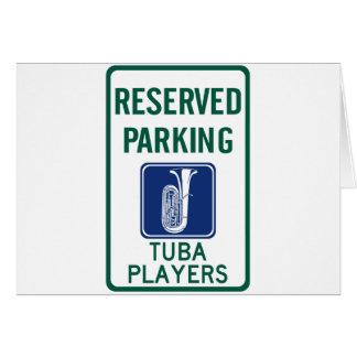Cartão Estacionamento dos jogadores da tuba