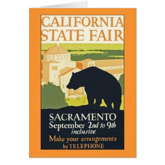 Cartão Estado de Califórnia justo