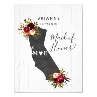Cartão Estado de Califórnia você será minha madrinha de
