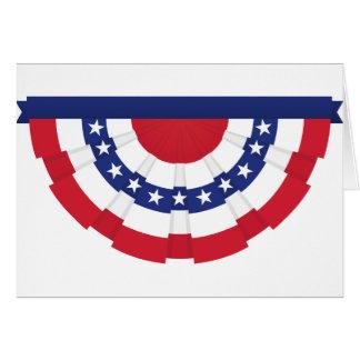 Cartão Estamenha da bandeira americana