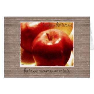 Cartão Estas maçãs de Samhain das estações do silêncio