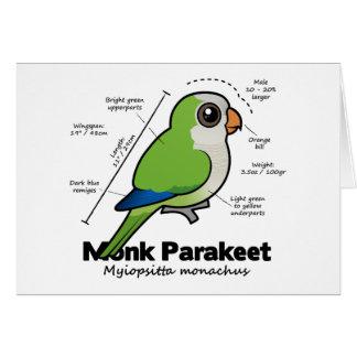Cartão Estatísticas do Parakeet da monge