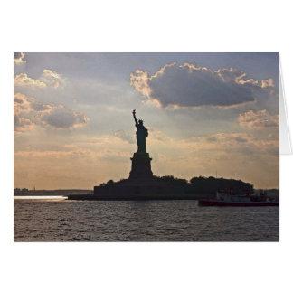 Cartão Estátua da liberdade (2)