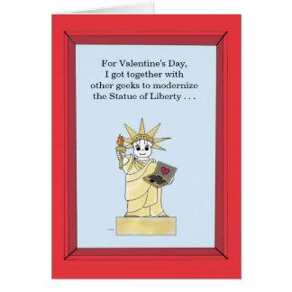Cartão Estátua da liberdade actualizado - namorados