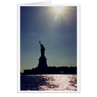 Cartão Estátua da liberdade, New York