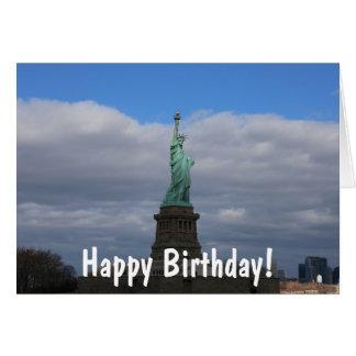 Cartão Estátua da liberdade NYC do feliz aniversario