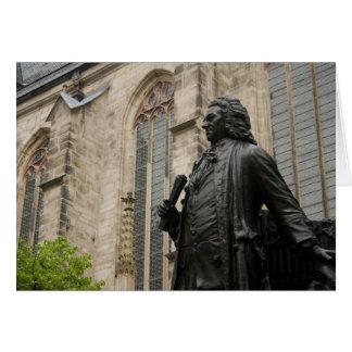 Cartão Estátua de Bach