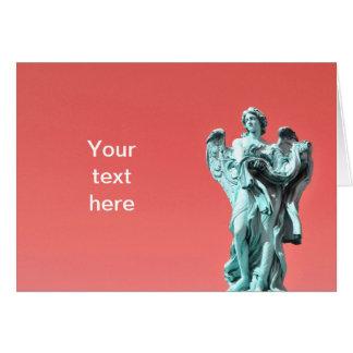 Cartão Estátua de pedra do anjo