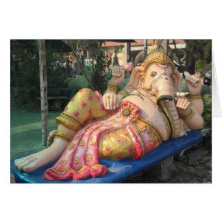 Cartão Estátua de reclinação de Ganesha em Chiang Mai,