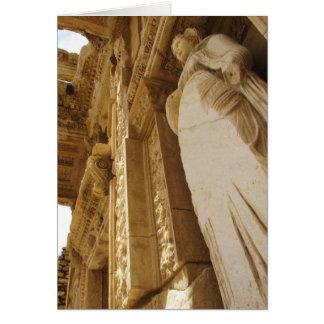Cartão Estátua de Sophia, biblioteca de Celsus, Ephesus
