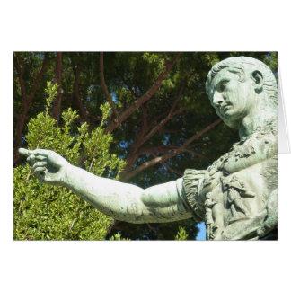 Cartão Estátua do imperador romano Augustus