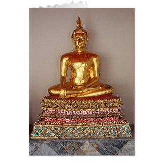 Cartão Estátua do ouro de Buddha
