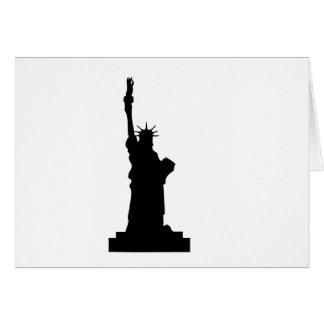 Cartão estátua-liberdade