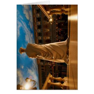 Cartão Estátua viva