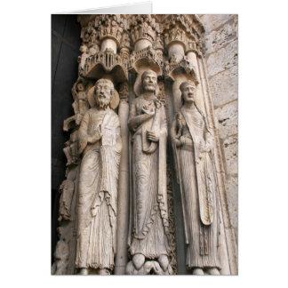 Cartão Estátuas Chartres da armação
