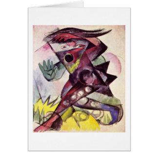 Cartão Estatueta de Caliban por Franz Marc