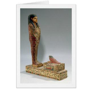 Cartão Estatueta de Osiris de Iahmes (madeira pintada)
