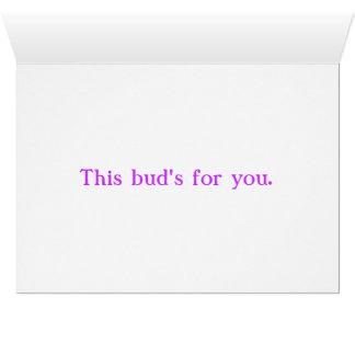 Cartão Este botão para você