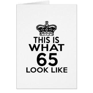 Cartão Este é o que o olhar 65 gosta