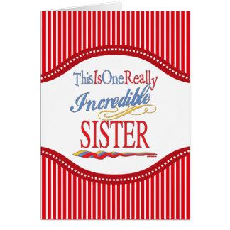 Cartão Este é um presente realmente incrível da irmã